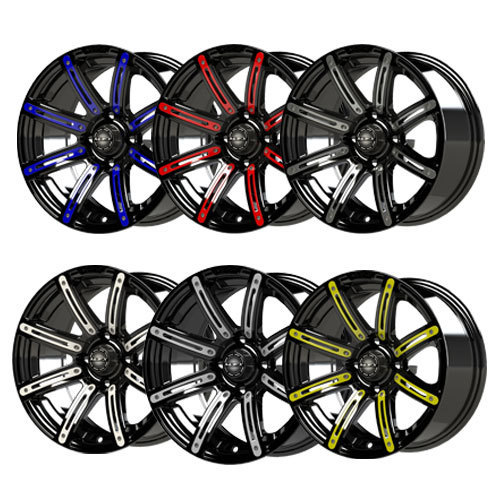 Illusion 12x7 Black Wheel Color Insert Options (inserts only)