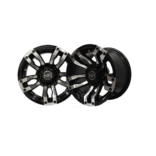 VELOCITY 12x7 Machined/Black Wheel