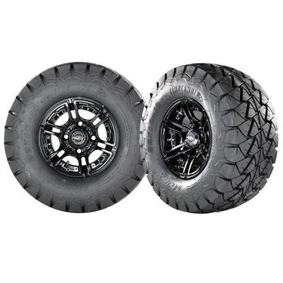 MIRAGE 14x7 Black w/ 22x10x14 Timber Wolf A/T Tire
