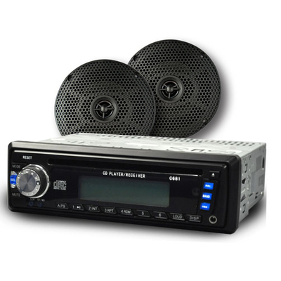 CD Multimedia Receiver Radio w/ 6 inch Speakers