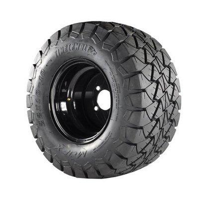 22x10x10 Timberwolf A/T Tire on 10x8 Black Steel Wheel