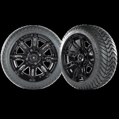 Illusion 12x7 Black wheel no inserts with a 215/35/12 Cobra Street Tire