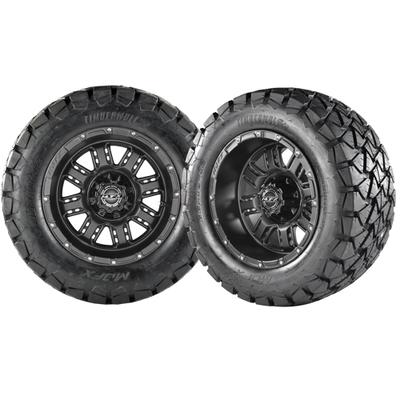 TRANSFORMER 12x7 Matte Black w/ 215/35/12 Cobra Street Tire