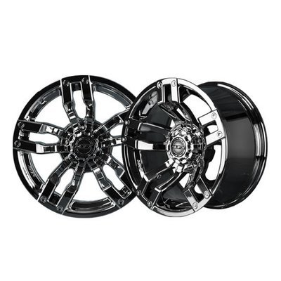 VELOCITY 12x7 Black Chrome Wheel