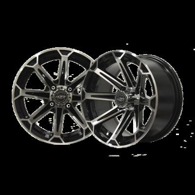 VORTEX12x7 Machined/Black Wheel