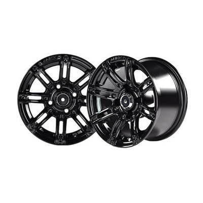 Illusion 12x7 Black Wheel with Silver Inserts