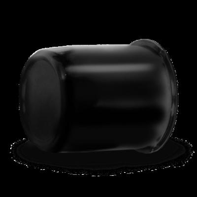 Push Through Black Center Cap