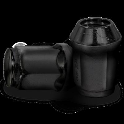 16-Pack of 12mm x 1.25 Metric Lug Nuts- Black