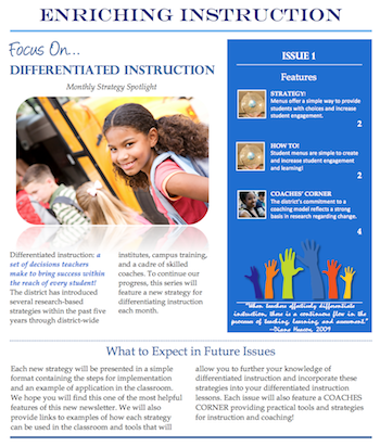 Enriching Instruction Monthly Newsletter Series