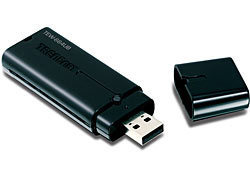 ADAPTADOR USB RED INAL?MBRICO N DE BANDA DUAL A 300MBPS 2.4GHZ Y 5GHZ TRENDNET TEW-664UB