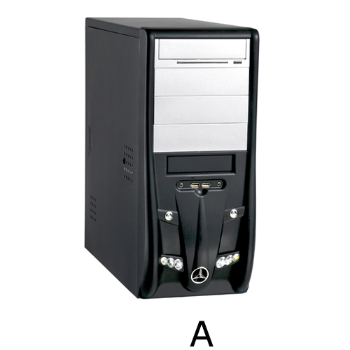 CAJA MEDIA TORRE CAS-2828A-4S-DX 20+4 SATA 450W AUDIO/USB PLATA/NEGRA