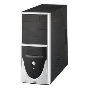 CAJA MEDIA TORRE CAS-PC-319 400W 20+4P UL SONIDO USB2.0 NEGRO PLATA