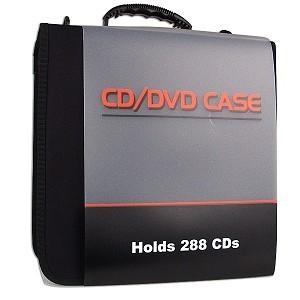 ESTUCHE PORTA CD VINYL 288-DISCOS 36 PAGINAS 8XP ZIPPER NEGRO ENJ32288