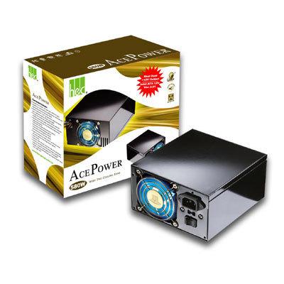 fuente poder 500w hec pws-hwc500tdbtf doble ventilador