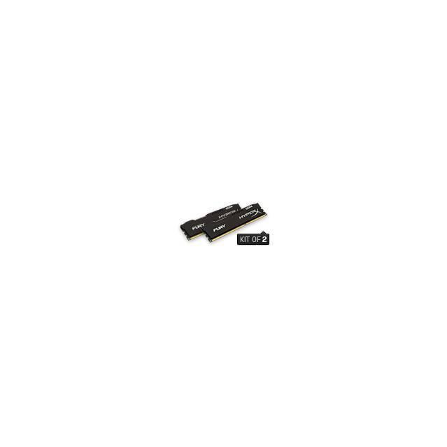 MEMORIA DDR4-2133 PC4-17000 2133MHZ KINGSTON 16GB 2X8GB 1GX64 CL14 HYPERX FURY NEGRA HX421C14FBK2/16