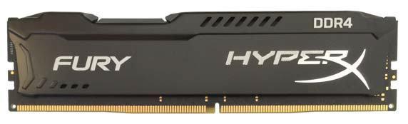 MEMORIA DDR4-2400 PC4-19200 2400MHZ KINGSTON 8GB 1GX64BIT HYPERX FURY NEGRA INTEL X99 CL15 288-PIN HX424C15FB/8