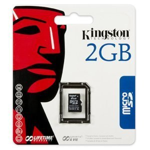 micro secure digital sd kingston 2gb sdc/2gbsp sin a sd