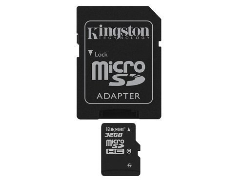 MEMORIA MICRO SDHC SECURE DIGITAL KINGSTON 32GB SDC10/32GB 10MB/S MAX 30MB/S CON 1 ADAPTADOR SD
