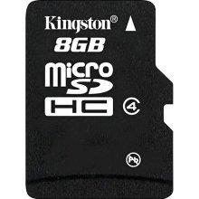MEMORIA MICRO SDHC SECURE DIGITAL KINGSTON 8GB SDC4/8GB