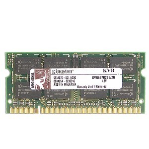 sodimm ddr2 pc2-5300 667mhz kingston 2gb kvr667d2s5/2g