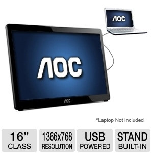 AOC E1649FWU 15.6in USB 1366x768