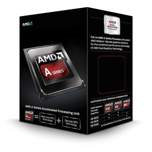 PROCESADOR AMD FM2 A10-6800K RICHLAND 4CORES APU 4.1GHZ TURBO 4.4GHZ VIDEO RADEON HD 8670D 844MHZ MEMORIA DOBLE CANAL DDR3-2133 64BITS 4THREAD 0.032 MICRON 4MB CACHE L2 100W UNLOCKED CLOCK MULTIPLIER AD680KWOHLBOX A10-680K