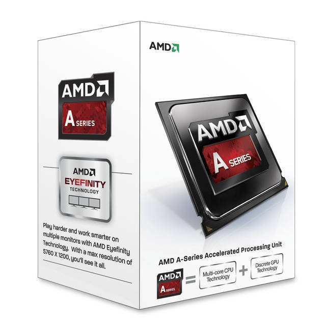 PROCESADOR AMD FM2 A4-6300 RICHLAND DUAL-CORE APU 3.7GHZ TURBO 3.9GHZ VIDEO RADEON HD 83700D 760MHZ MEMORIA DOBLE CANAL DDR3-1333 64BITS 2THREAD 32NM 1MB CACHE L2 65W UNLOCKED CLOCK MULTIPLIER AD6300OKHLBOX