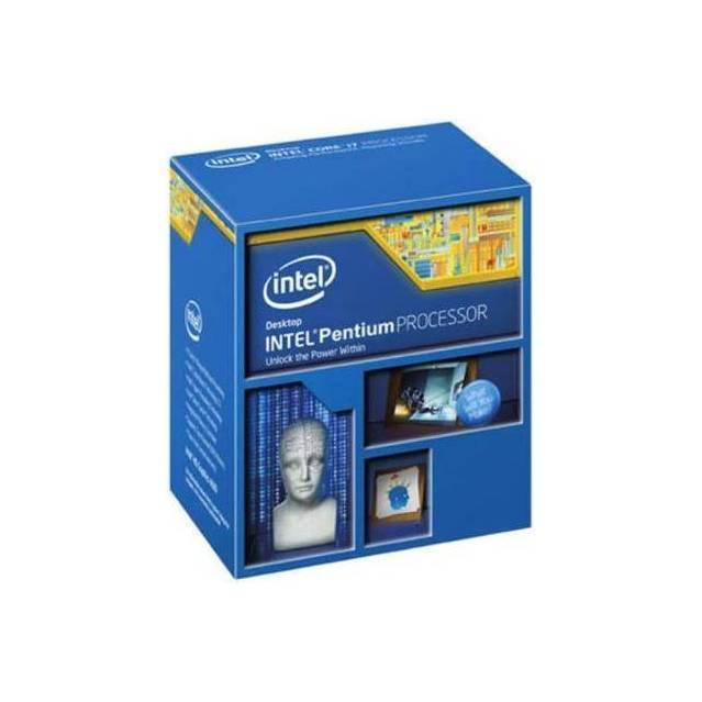 PROCESADOR INTEL LGA1150 DUAL-CORE G3250 3.2GHZ VIDEO HD GBF 350MHZ MAXIMO DINAMICA 1.1GHZ 2CORES 2THREADS 3MB CACHE 22NM 5GT/S 53W MULTIPLICADOR 31X MAX 32GB DC 1333 BX80646G3250