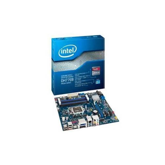 TARJETA MADRE INTEL LGA1155 BOXDH77EB 4DDR3 1600/1333/1066 MAX 32GB DC X16 3.0 3X1 2.0 MINI PCI 2SATA3 3SATA2 ESATA SON.10CH VIDEO HD RED GIGA 10USB2.0 4USB3.0 HDMI DISPLAYPORT DVI MICRO ATX G39073-304