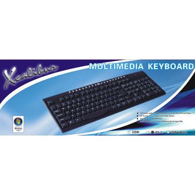 teclado multimedia xcalibur espa�ol ps2 kbm-w2520p-sp