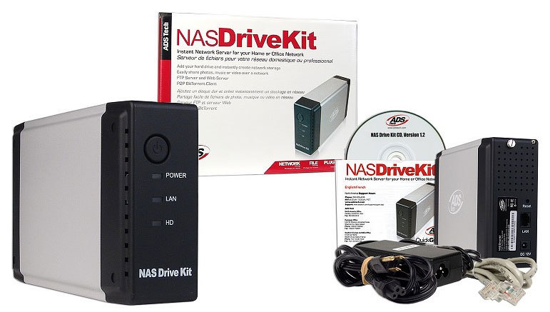 ENCAPSULADOR 3.5IN SERVIDOR RED ADS TECH IDE NAS-806 RJ45 DRIVE KIT NETWORK ATTACHED STORAGE
