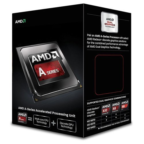 PROCESADOR AMD FM2 A6-6400K RICHLAND DUAL-CORE APU 3900MHZ TURBO 4100MHZ VIDEO RADEON HD 8470D 800MHZ MEMORIA DOBLE CANAL DDR3-1866 64BITS 2THREAD 0.032 MICRON 1MB CACHE L2 65W UNLOCKED CLOCK MULTIPLIER AD640KOKHLBOX A6-640K