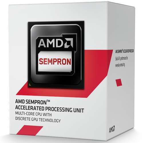 PROCESADOR AMD AM1 SEMPRON 2650 KABINI DUAL-CORE APU 1.45GHZ 2THREADS RADEON HD 8240 GBF 400MHZ 1MB CACHE L2 28NM 25W SD2650JAHMBOX