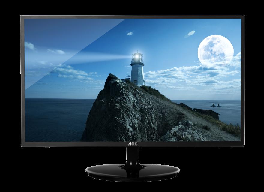 monitor led 23in aoc p2370s 1920x1080 16:9 20000000:1 5ms 250 cd/m� vga 22.5in super slim color negro