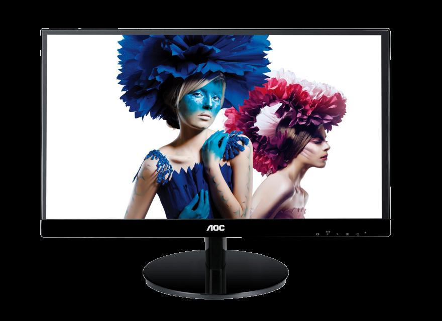 monitor led 23in ips aoc i2369v/bk 1920x1080 60hz 250cm/m2 50000000:1 vga dvi-d con hdcp 5ms vesa 75mm