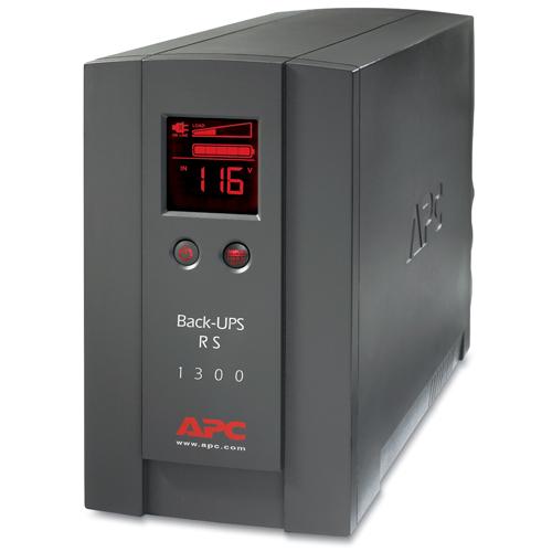 ups fuente ininterrumpible de poder 1300va 120v lcd 5-15p 5-15r linea interactiva 10 tomas salida 5 ups 5 supresor apc back ups pro rs br1300lcd