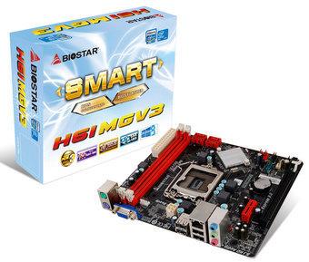 TARJETA MADRE BIOSTAR LGA1155 H61MGV3 V7 .1 2DDR3 1600/1333/1066 MAX 16GB X16 3.0 X1 4SATA2 SONIDO 5.1 6CH RTL8111G GIGA 4USB2.0 2PS/2 VGA 3SONIDO MAX 95W MICROATX