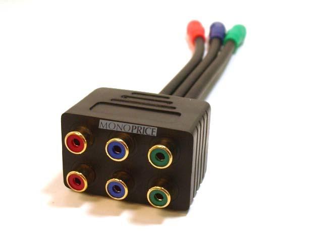 CABLE DIVISOR VIDEO RCA SPLITTER VIDEO COMPONENTE 1 MACHO 2 HEMBRA