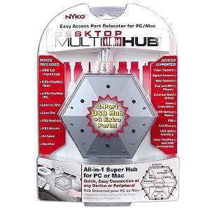 HUB MULTIPLE 4 USB 1 FIREWIRE 1 SVHS 1 PARLANTES 1 MICROFONO NYKO NTA-80699-H17