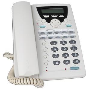 VOIP TELEFONO IP H.323 CON CONTESTADOR AUTOMATICO 20MIN GRAB. LCD 2X16 38 TECLAS CALLER ID P2P BLANCO VOP-PH210-PB