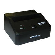 DOCKING STATION USB3.0 5GBPS SATA I/II MASSCOOL DS-US007U3 BOTON ONE-TOUCH 2.5IN 3.5IN HASTA 2TB NEGRO