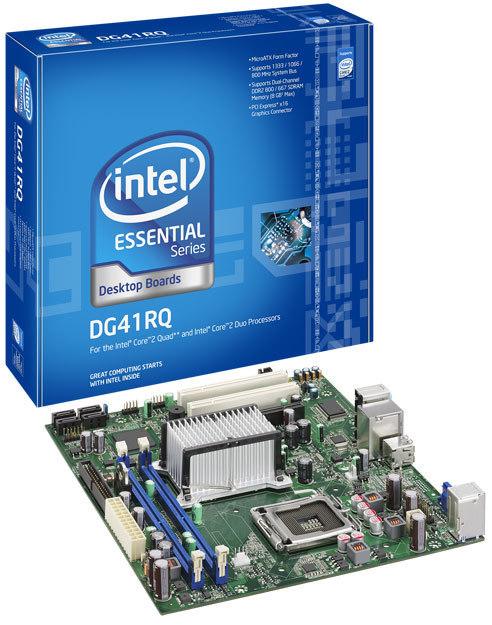 tarjeta madre intel lga775 dg41rq quad core 1333/1066/800 ddr2 800/667 8gb 4sata2 giga 5.1ch pcix16 2pci 8usb2.0 vga paralel microatx e54511-203