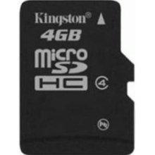micro sdhc secure digital kingston 4gb sdc4/4gb