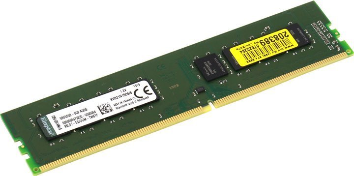 MEMORIA DDR4-2133 PC4-17000 2133MHZ KINGSTON 16GB 2GX64 CL15 VALUERAM KVR21N15D8/16