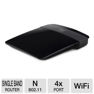 router wifi 802.11bgn 300mbps/s switch 4puertos 10/100 linksys e1200-la 2.4ghz antenas mimo wpa/wpa2