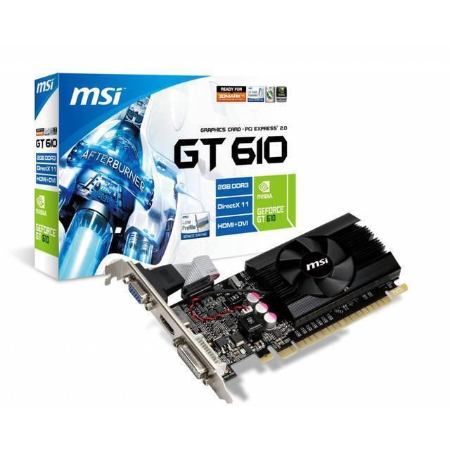 MSI Nvidia GeForce GT 610 2GB GDDR3 64-bit