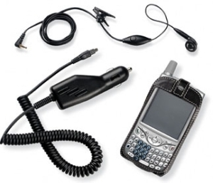 KIT AUDIFONO CARGADOR CARRO ESTUCHE PALM PDA TREO 650 3197WW