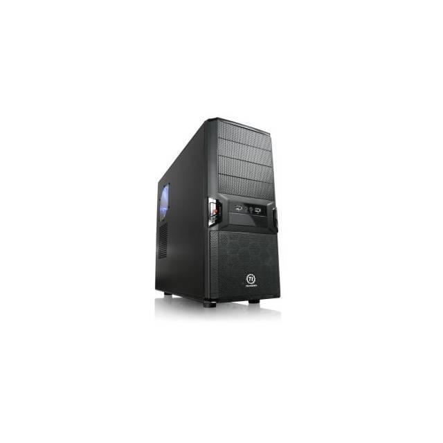 CAJA MEDIA TORRE GAMING THERMALTAKE V3 BLACK EDITION VL80001W2Z SIN FUENTE PODER COLOR NEGRA