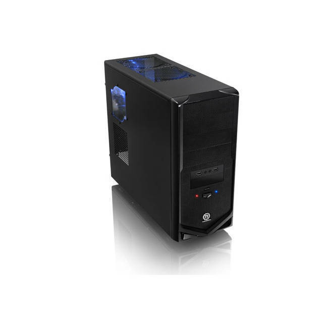 CAJA MEDIA TORRE GAMING THERMALTAKE V4 BLACK EDITION VM30001W2Z SIN FUENTE PODER COLOR NEGRA