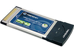 TARJETA RED INALAMBRICA 802.11G 108MBPS PCMCIA TRENDNET MIMO TEW-601PC